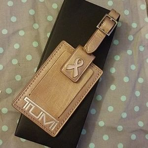 TUMI Pink Ribbon Luggage Tag